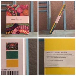 Starbucks + Jessie & Katey Set of 3 Lined Notepads